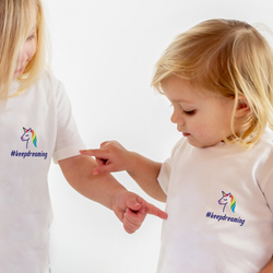 Baby #keepdreaming Unicorn T-Shirt with NHS donation