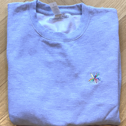 #Staypositive Embroidered Grey Sweatshirt - Size Extra Large