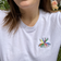 Keep Smiling Embroidered T-Shirt in White