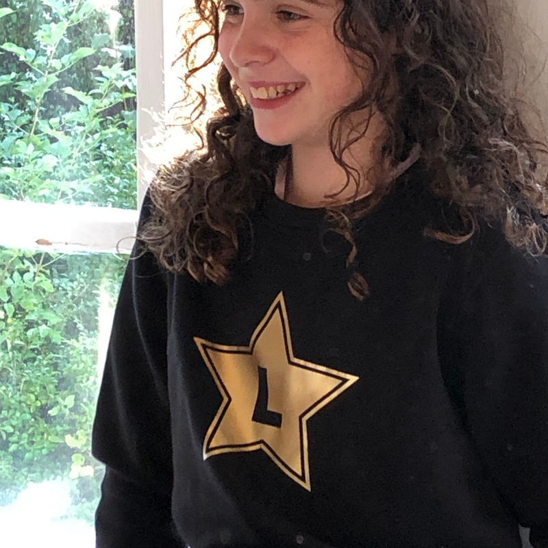 Kids Organic Star Sweatshirt