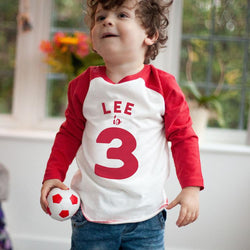 Personalised Birthday Baseball Top