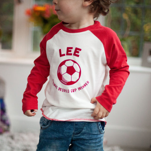 Personalised Future footballer Baby Baseball Top