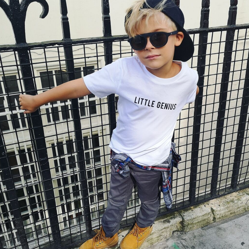 Little Hero, Little Dude or Little Genius Organic Kid's T-Shirt