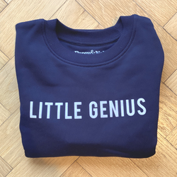 Little Genius Navy Organic Kids Sweatshirt 7-8 years