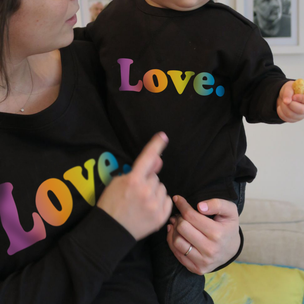 'Love' mother and child twinning sweatshirts