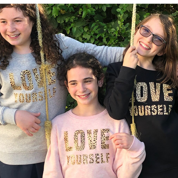 Kids Organic Love Yourself Sweatshirt