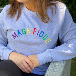 Magnifique Embroidered Grey sweatshirt