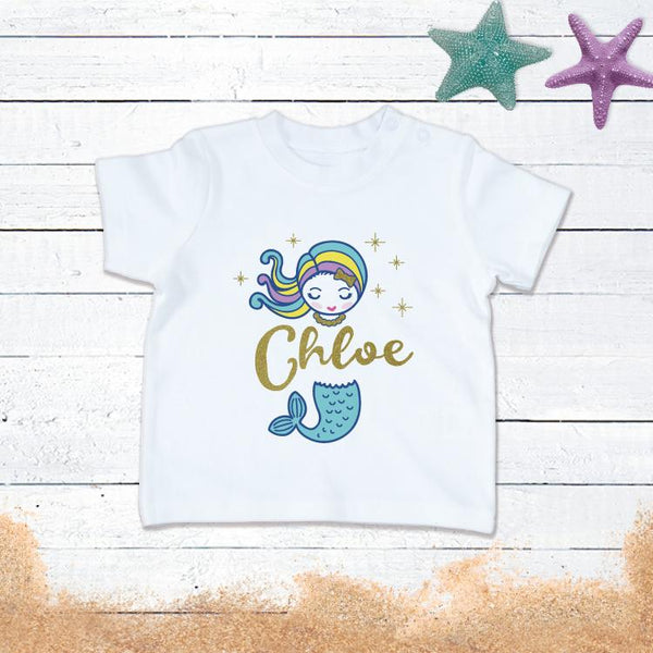 Personalised Sparkly Mermaid T-Shirt!