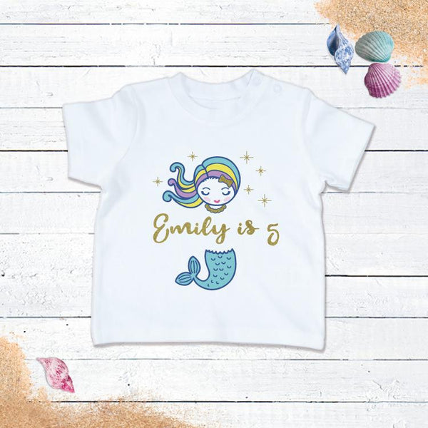 Personalised Mermaid Birthday T-Shirt!