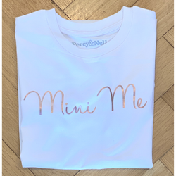 Mini Me Rose Gold printed White T-shirt 7-8 years