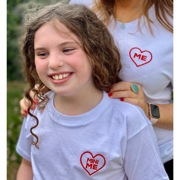 Red Heart 'Me' Embroidered T-Shirt for Mummies