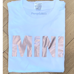 Mini Strong Rose Gold printed White T-shirt 9-11  years