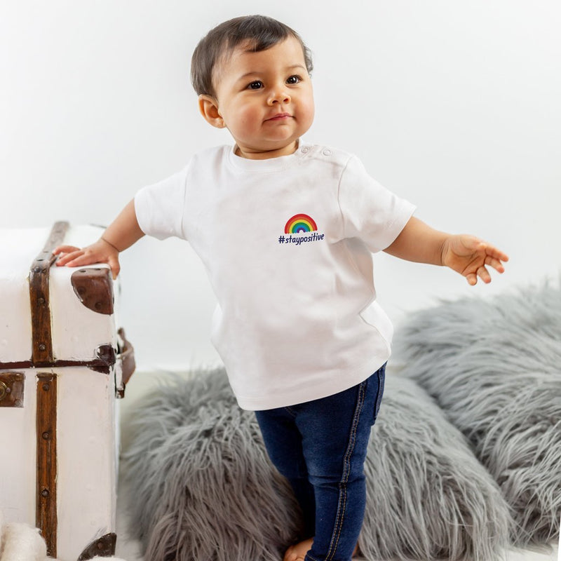 Baby #staypositive T-Shirt with NHS donation 0-2 years
