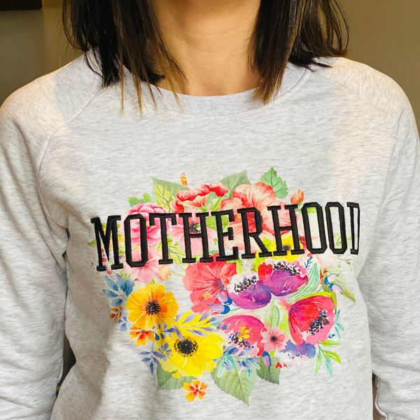 Embroidered Motherhood Floral Sweatshirt