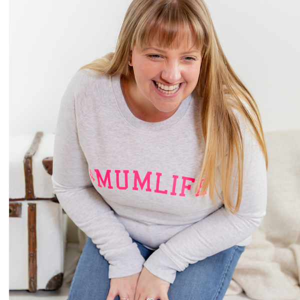 #mumlife sweatshirt in neon print