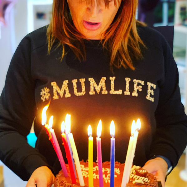 #MumLife Sweatshirt in Leopard Print