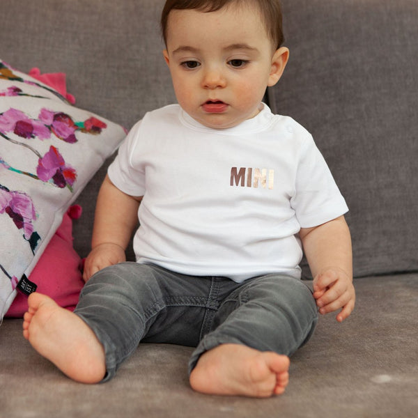 Rose Gold 'Mini' T-Shirt for Baby