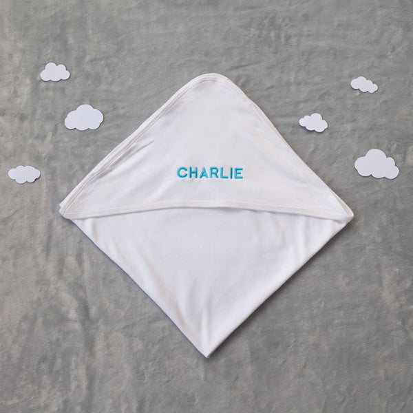 100% Organic Cotton Personalised Baby Blanket