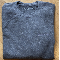 Men's Grey Marl Sweatshirt Je suis le Papa Large