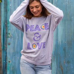 Peace and Love Grey Sweatshirt