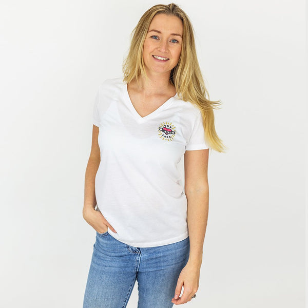 Ombre Mother Organic V-Neck T-Shirt