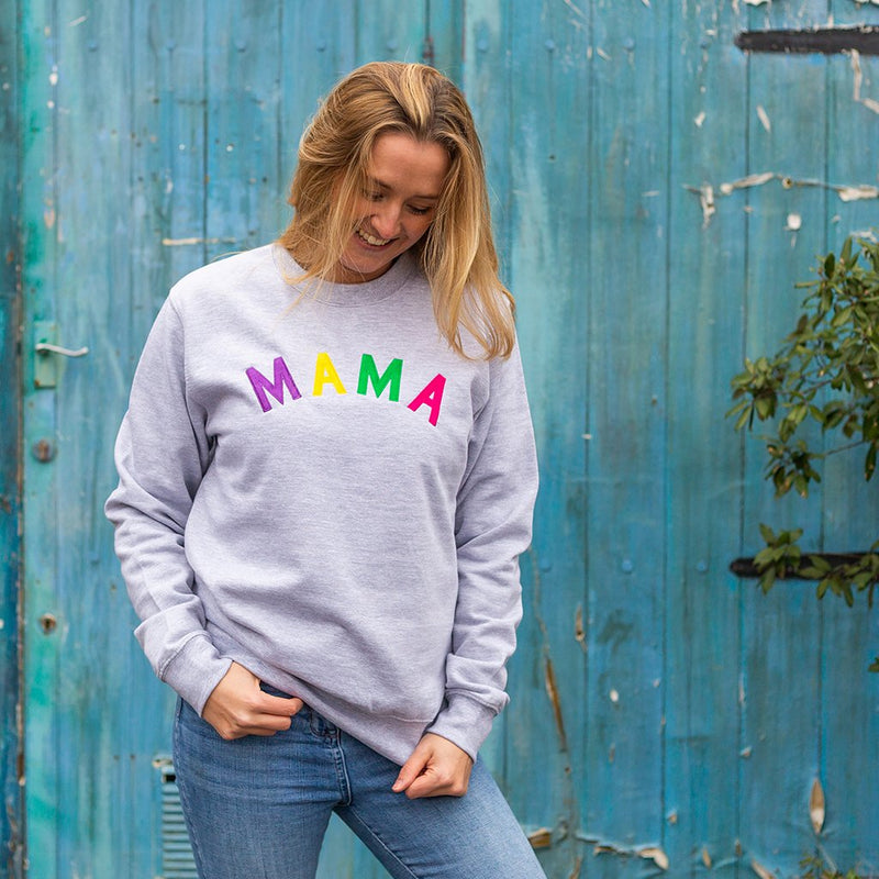 Mama Embroidered Grey sweatshirt