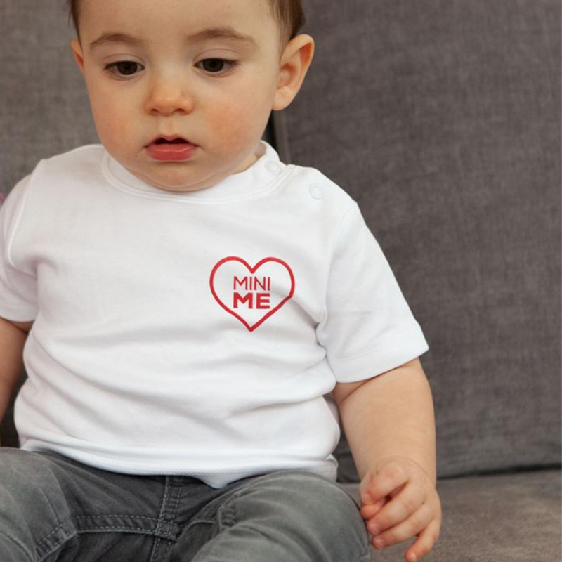 Red Heart 'Mini Me' Embroidered T-Shirt for Baby