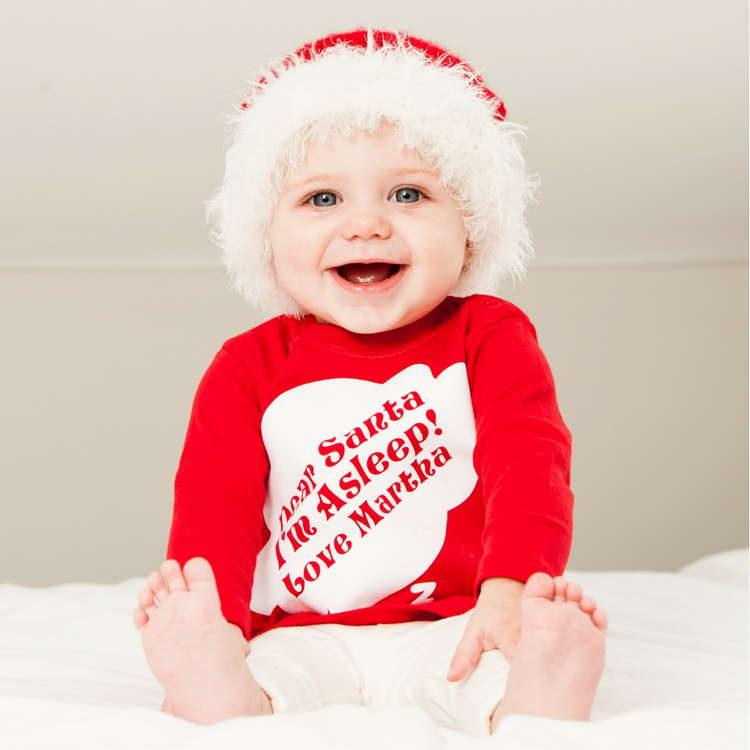 Personalised Message to Santa Long Sleeved Top