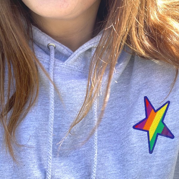 Cool Embroidered Star Hoodie