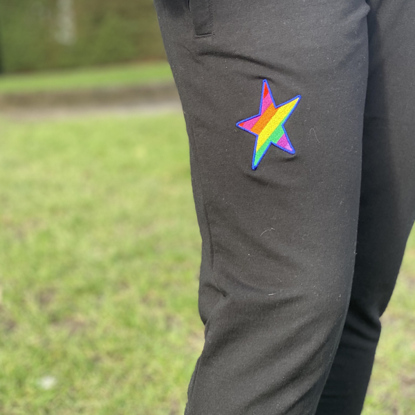 Embroidered Star Joggers