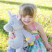 Personalised Grey Unicorn Soft Toy For Baby
