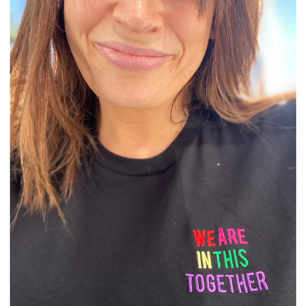 We are in This Together T-Shirt with NHS donation in Black