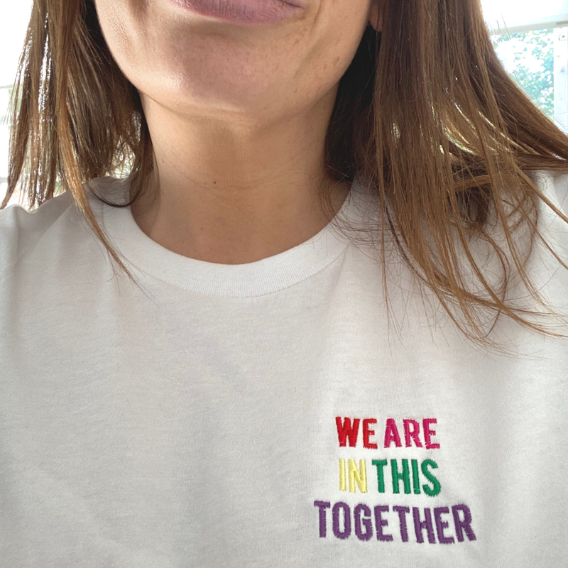 We are in This Together T-Shirt with NHS donation in White