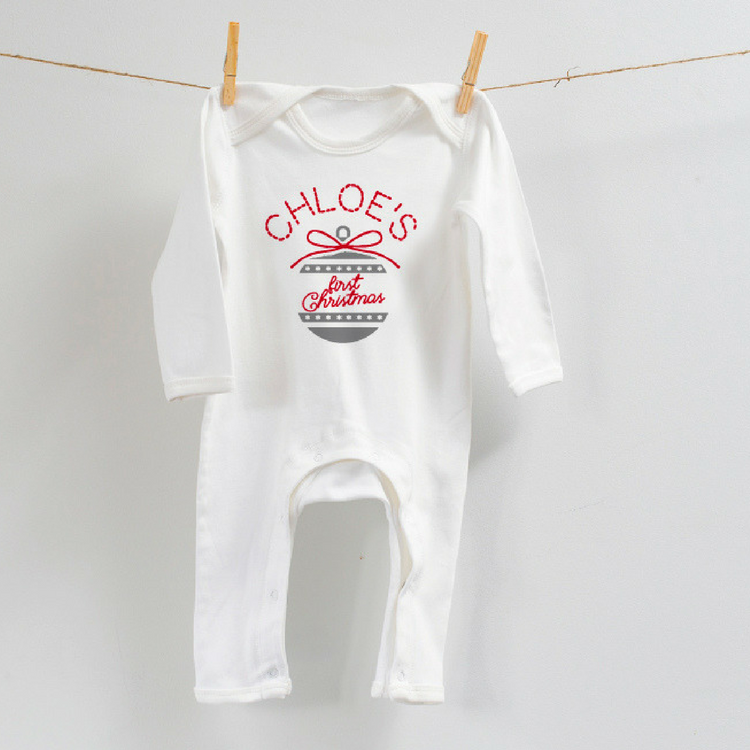 Personalised Christmas Bauble Romper