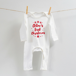 Personalised First Christmas Romper