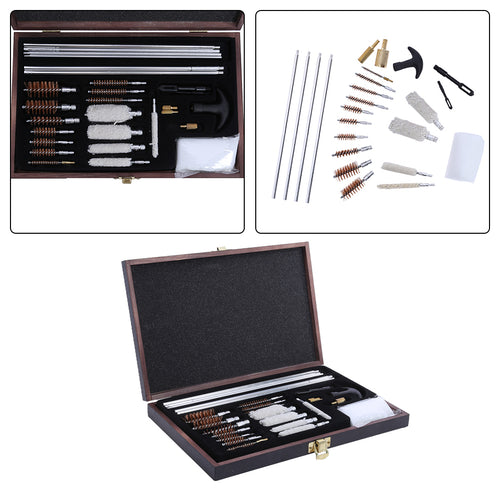 Universal Hunting Pistol Rifle Pistol Handgun Shotgun Cleaner Gun Cleaning Kit Convenient With Wooden box Case