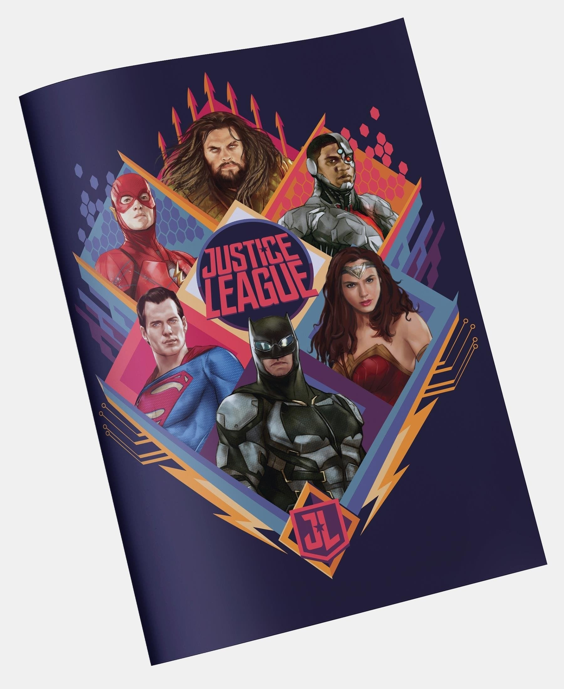 Justice League Precut Book Covers - Navy