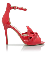 Ankle Strap Heel - Red
