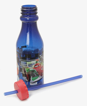 Cars 3 Fast Friends Bottle & Straw - Navy