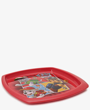 Paw Patrol Square Plate - Red
