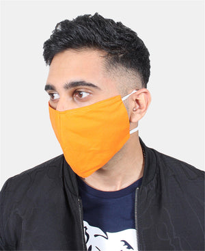 3 Pack Cotton Masks - Orange