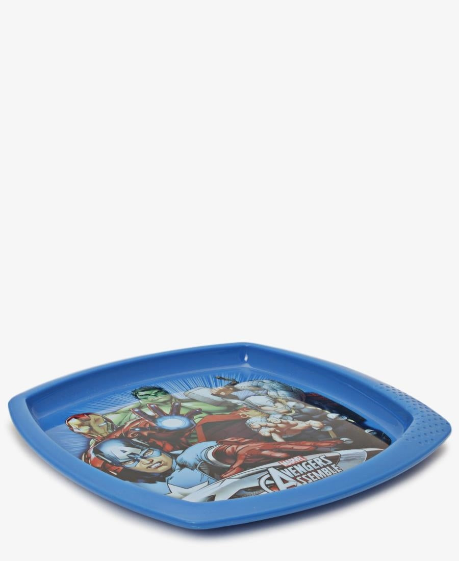 Avengers Mighty Square Plate - Blue