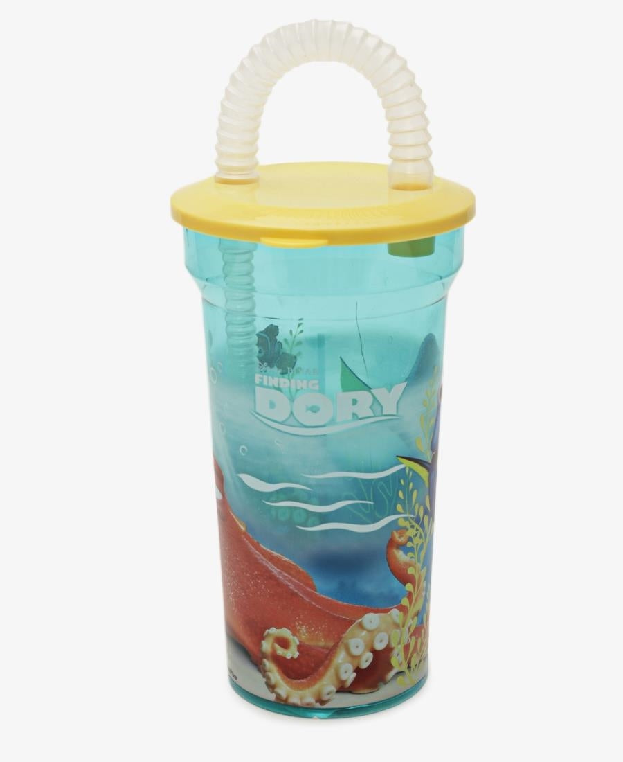 Dory Fin-Tastic Flexi Straw Bottle - Light Blue