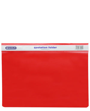 Marlin Quotation Folder - Red