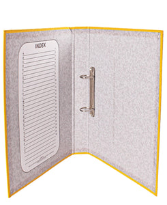 Marlin PVC Ring Binder File  - Yellow