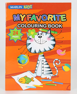 Marlin 24 Pages Colouring Book - Orange