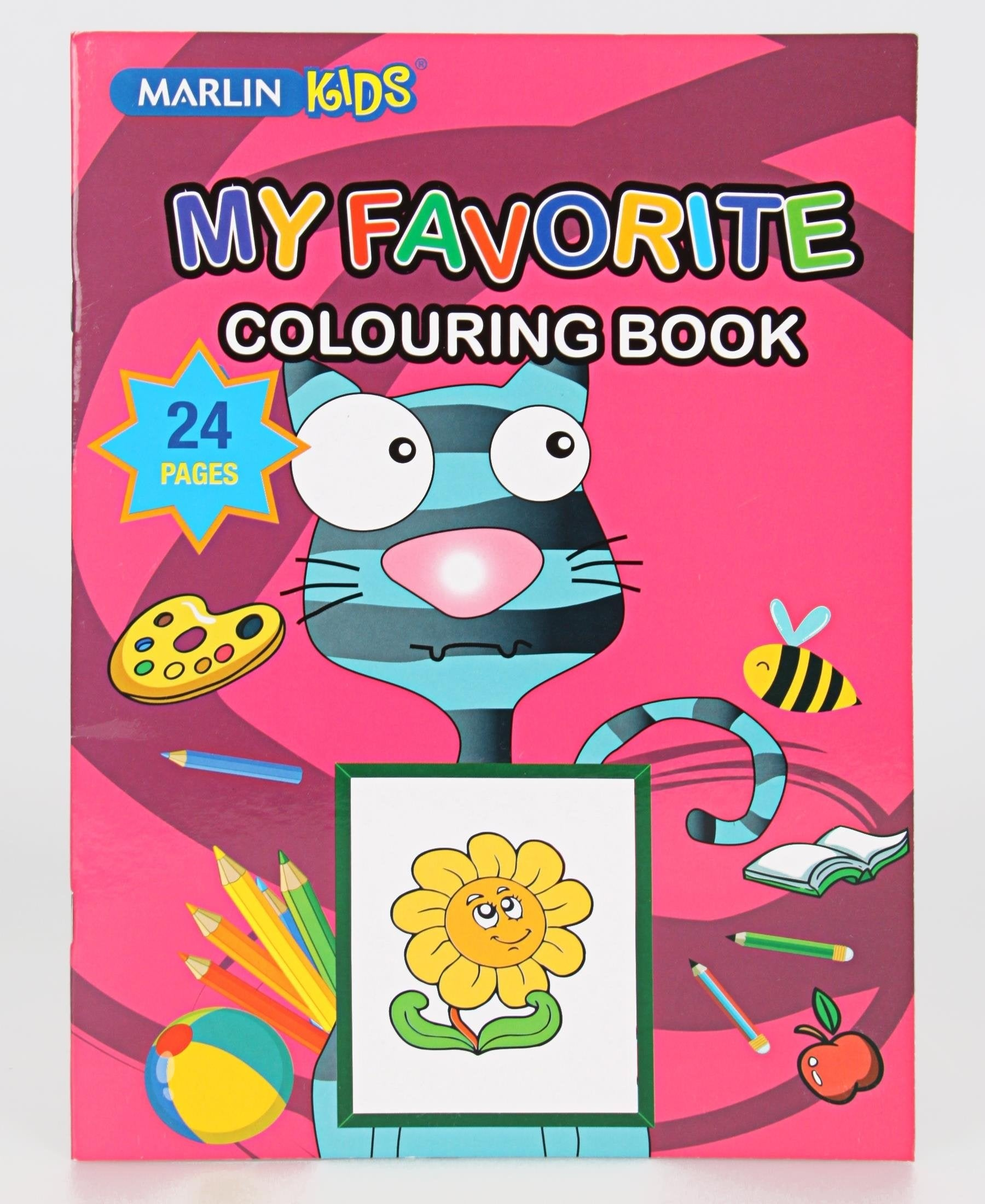 Marlin 24 Pages Colouring Book - Pink