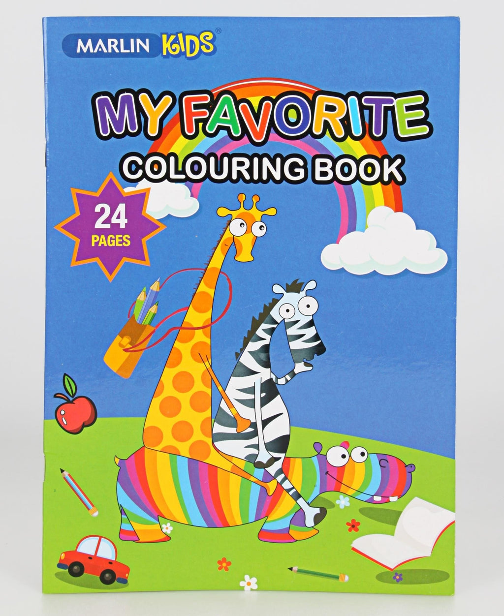Marlin 24 Pages Colouring Book - Blue