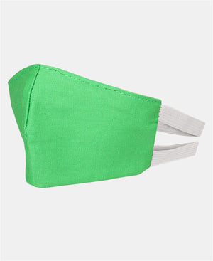 Kids 3 Pack 2 Ply Cotton Masks - Green