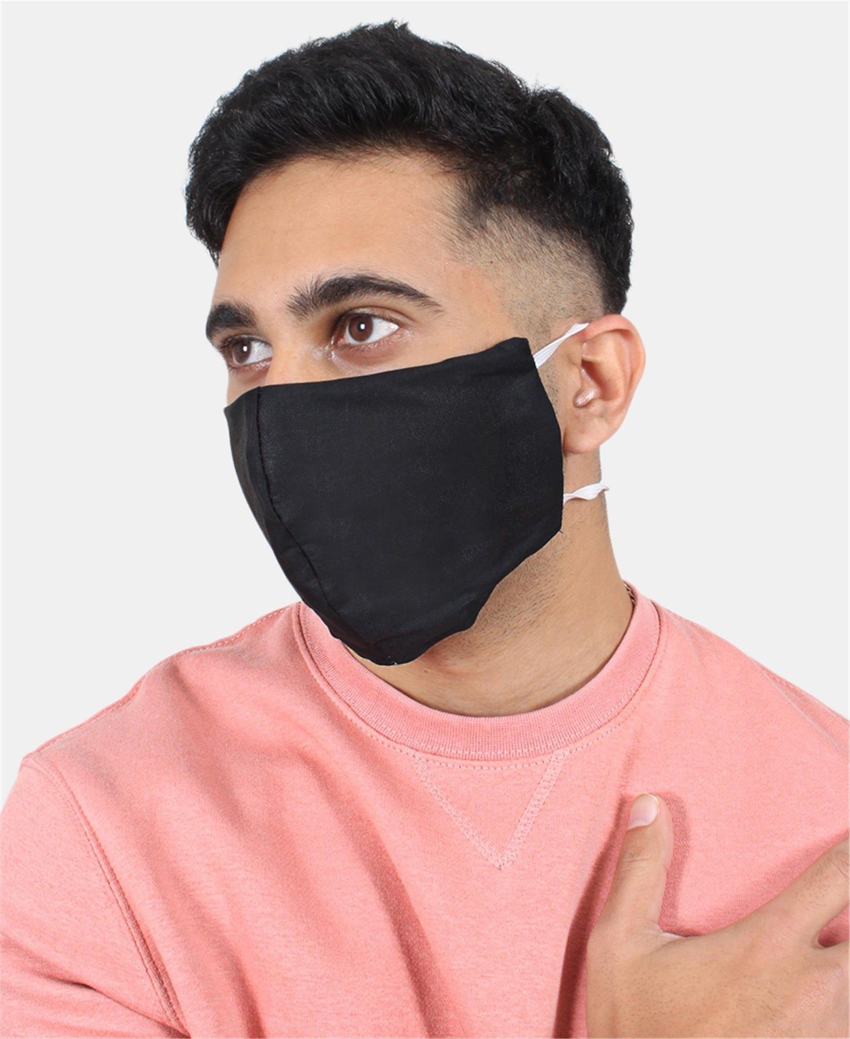 3 Pack Cotton Masks - Black